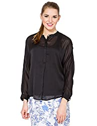 Folklore Women's Tunic Top (FOTP000119_Black_Small)