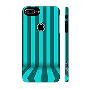 Enthopia Designer Hardshell Case Stripe Flow Back Cover for Apple Iphone 7 Plus With Apple Hole