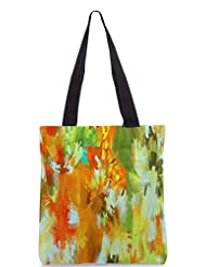 Snoogg Abstract Paint Poly Canvas Tote Bag