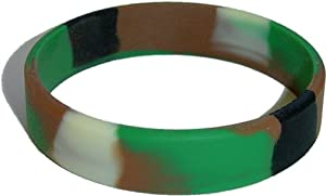 Child Size Camo Wristband for Kid One Camouflage Bracelet