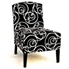 Circlesville Accent Chair In Black Velvet