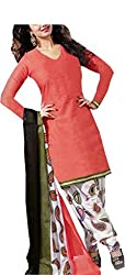Deeptex Women's Unstitched Salwar Suits (Scarlet_Free Size )