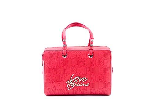 Handtasche Love Moschino Damen Polyurethan Rot und Gold JC4086PP12LN0500 Rot 12x20x29 cmEU thumbnail