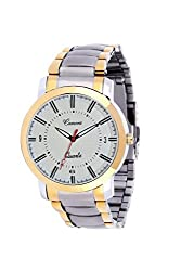 CAMERII Elegance High Quality Brass Case White Dail Wrist Watch For Men