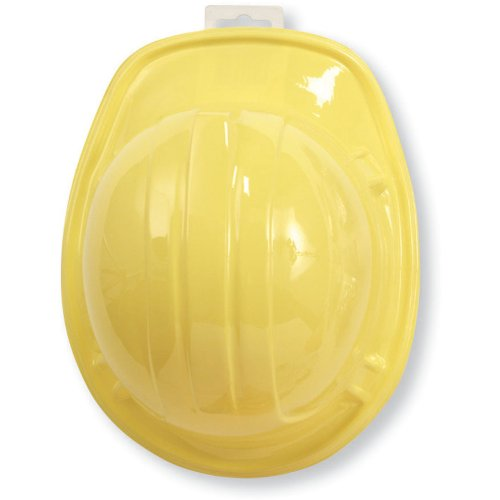 Creative Converting Under Construction Plastic Hard Hat, Yellow, Child Size