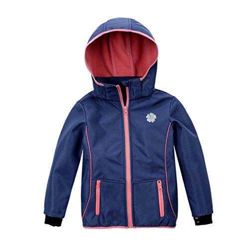 M2C Kid Boy Girl Thermal Fleece Hooded Jacket Outdoor Sweater Waterproof Windproof (4T, blue) (5t Girls Rain Jacket compare prices)
