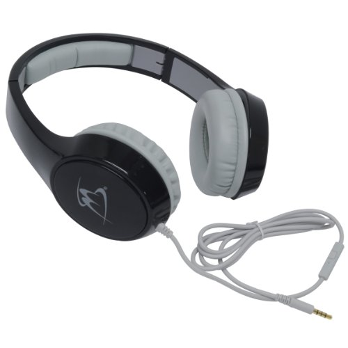 Mobilespec Ms51Bk Studio Series Black Stereo Headphones With In-Line Microphone