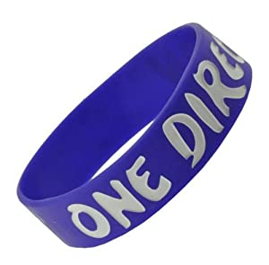 Indigo One Direction Wristband I Love One Direction Bracelet 1 Wide 14 from Hinky Imports