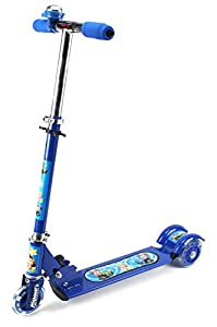 Street Surfer Childrens Kids Three Wheeled Metal Toy Kick Scooter w/ Light Up Wheels, Integrated Han available at Amazon for Rs.5399