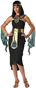 InCharacter Costumes Women's Cleopatra Costume, Black/Gold Costume, Large