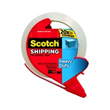 Scotch Super Strength Packaging Tape, 1.88 Inch x 38.2 Yards (3850S-RD)