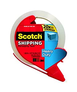 Scotch Heavy Duty Shipping Packaging Tape with Refillable Dispenser, 1.88 in x 38.2 yd (3850S-RD)