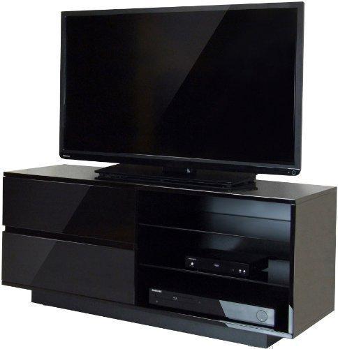 Centurion Gallus nero lucido con 2-Black Cassetti e 3-Shelf 66- 139,7cm supporto per mobile per TV LED/LCD/Plasma