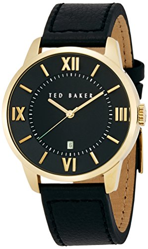 Ted Baker Three-Hand Leather - Black Men's watch #TE1117