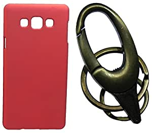 Toppings Hard Case Cover With Matallic KeyChain For Samsung Galaxy On5 - Red