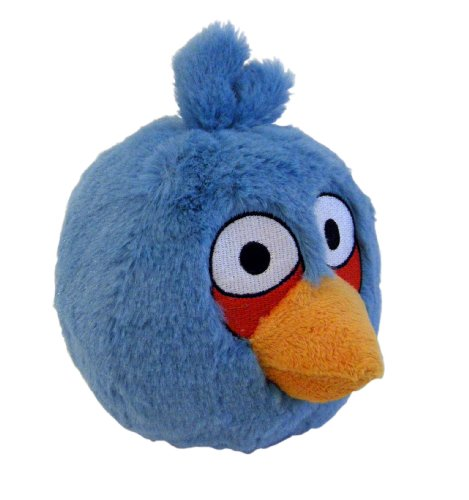 Imagen de Angry Birds de peluche 8-Inch Blue Bird con sonido