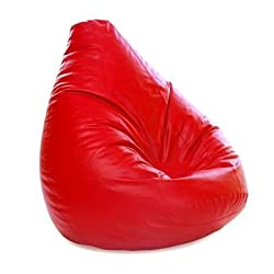 S Man Bean Bag Bean Bag Cover Red Color King (Red_XXL)