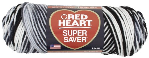 Red Heart Super Saver Economy Yarn, Zebra Print