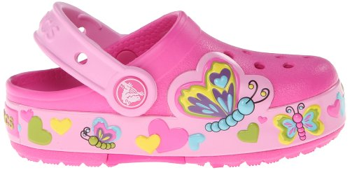 crocs CrocsLights Butterfly PS Clog (Toddler/Little Kid) crocs kids electro ii realtree max 5 clog