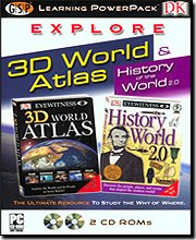 Dk Explore 3D World Atlas Learning Power Pack - 1