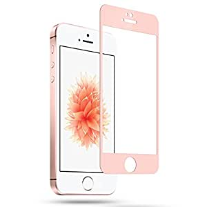 Amovo iPhone SE Screen Protector, Premium HD 0.26mm Round Anti-Fingerprint Screen Glass Protector for iPhone SE/5/5S/5C