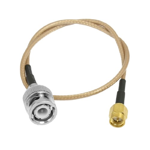 "uxcell 13.4"" SMA Male to BNC Male Antenna Coax Pigtail Cable"