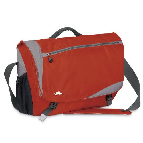 High Sierra Scranton Messenger Bag,Lava/Silver (Pear Lining)