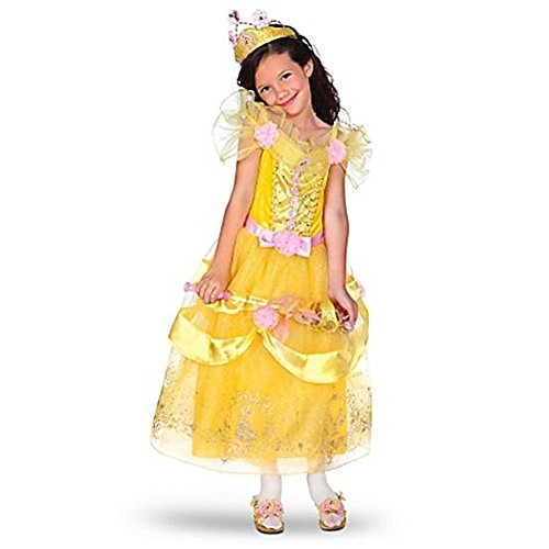 Disney Store Princess Belle Halloween Costume Dress for Girls Size XS 4