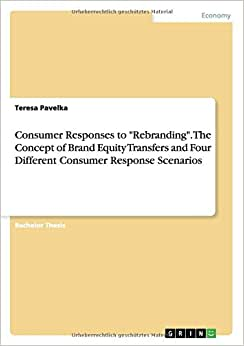 Consumer Responses To Rebranding. The Concept Of Brand Equity Transfers And Four Different Consumer Response Scenarios
