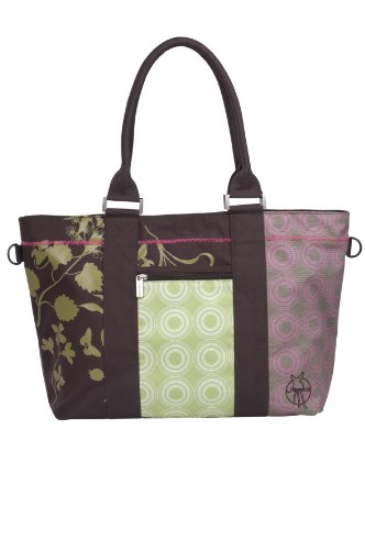 Lässig - LCS10631 - Sac à Langer - City Shopper Colorpatch - Choco / Vert