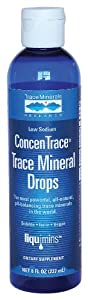 Liqumins ConcenTrace Trace Mineral Drops, Low Sodium, 8-Ounce Bottle