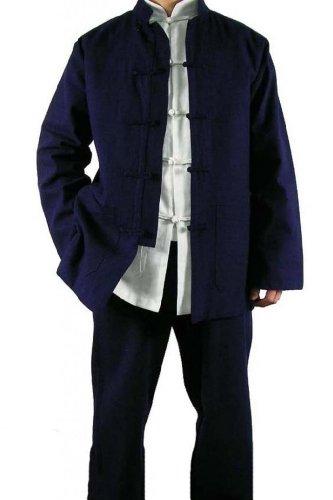 100-Baumwolle-Blau-Kung-Fu-Kampfkunst-Tai-Chi-Uniform-Anzug-XS-XL-oder-Von-Ma223schneider