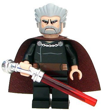 Lego Star Wars Count Dooku Minifigure with Lightsaber by LEGO TOY (English Manual)