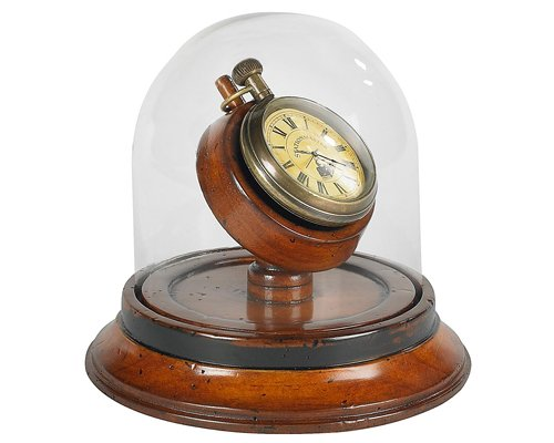 Victorian Desk Clock, with Removable Pocket Watch