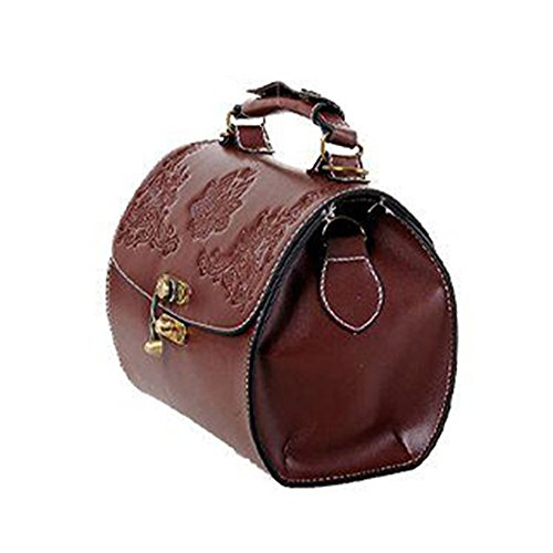 I9Q Donna PU Leather Handbag Lady Crossbody Tote Vintage Messenger Tracolla