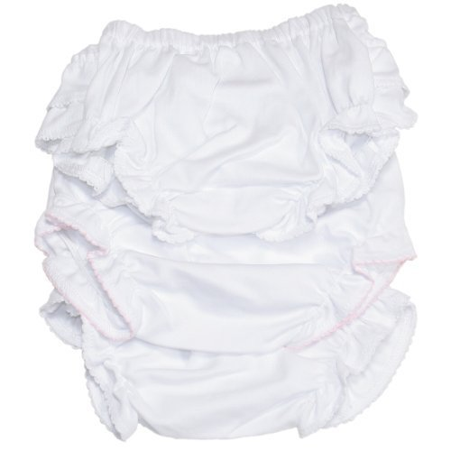 Kissy Kissy - Basic Diaper Cover 3 Set - White-3-6mos
