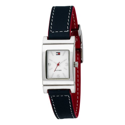 Tommy Hilfiger Women's 1700161 Red/Navy Reversible Leather Strap Watch