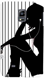 PrintVisa Music Girl Case Cover for Samsung Galaxy Note Edge
