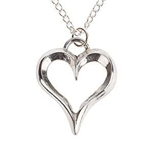10th Wedding Anniversary Gift - Heart Pendant Necklace cast in Tin Pewter