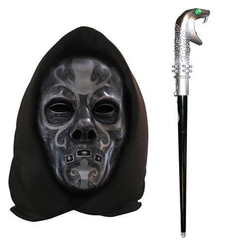 Harry Potter - Death Eater Voice Changing Mask  &  Wand
