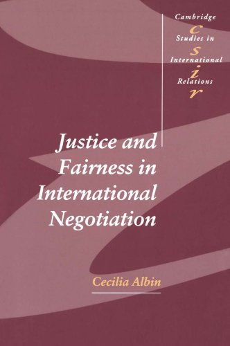 Justice And Fairness In International Negotiation (Cambridge Studies In International Relations) front-1009351
