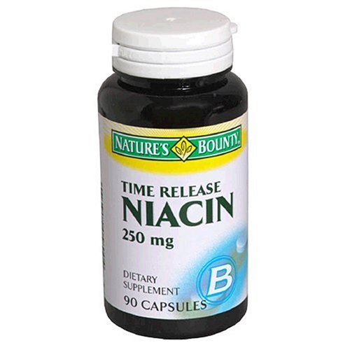 Nature'S Bounty Niacin, 250Mg, Time Release, 90 Capsules (Pack Of 3)