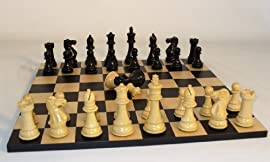 Ebony Imperial Chess Set with Double Queens