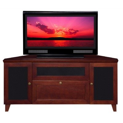 Image of Furnitech 61 Inch Shaker Corner TV Stand (FT61SCC-DC) (FT61SCC-DC)