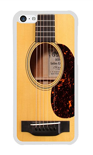 Phone Case Custom iPhone 5C Phone Case Funny Vintage Classic Guitar Best Durable Artsy White TPU Soft Case for Apple iPhone 5C Case