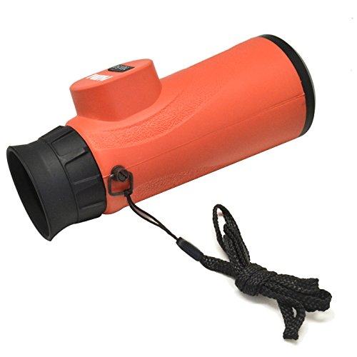 10X50 Waterproof Optics High Definition Monocular Telescope With Neck Strap For Sport Events《Orange》