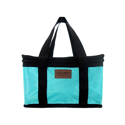 TIFENNY Portable Insulated Thermal Lunch Carry Tote Storage Travel Picnic Bag (Blue) (Embark Cooler 12 Can compare prices)