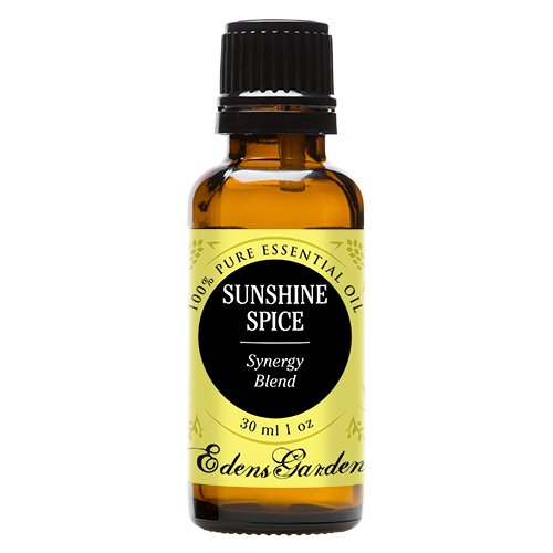 Sunshine Spice Synergy Blend Essential Oil by Edens Garden (Balsam, Camphor, Cinnamon Bark, Cinnamon Leaf, Eucalyptus and Sweet Orange)- 30 ml