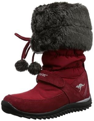 KangaROOS Puffy-Hi, Unisex-Kinder Bootsschuhe, Rot (wild cherry 610), 31 EU (12 Kinder UK)