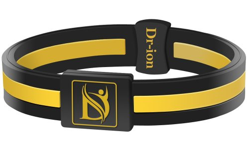 Negative Ion Health Wristband (Black/Yellow)